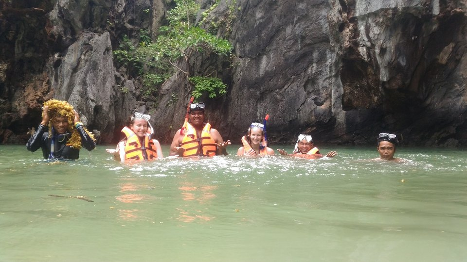Our group in the big lagoon